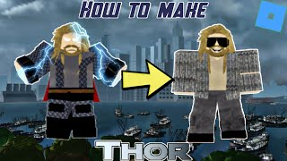 How to make Thor (Endgame) in Roblox Superhero Life 2