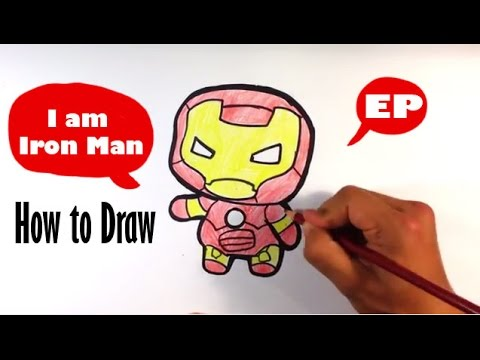 how to draw cute iron man captain america civil war easy pictures to draw youtube