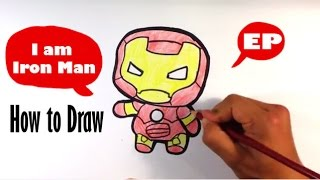 How to Draw Cute Iron Man - Captain America Civil War - Easy Pictures to Draw