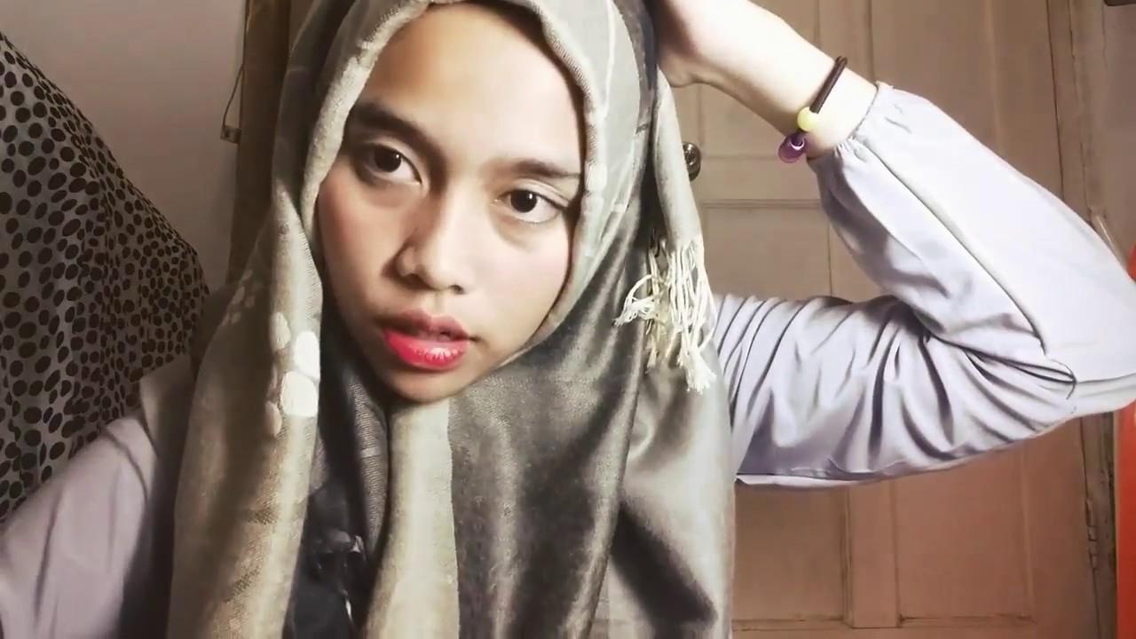 Tutorial Hijab Pashmina Berbahan Tebal By Ananda Putri Youtube
