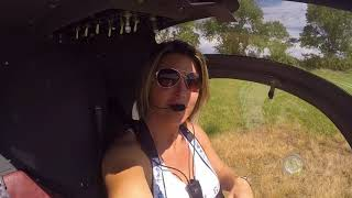 Gyrocopter Girl Flying Helicopter Syton AH130 Turbine 2018 06 25