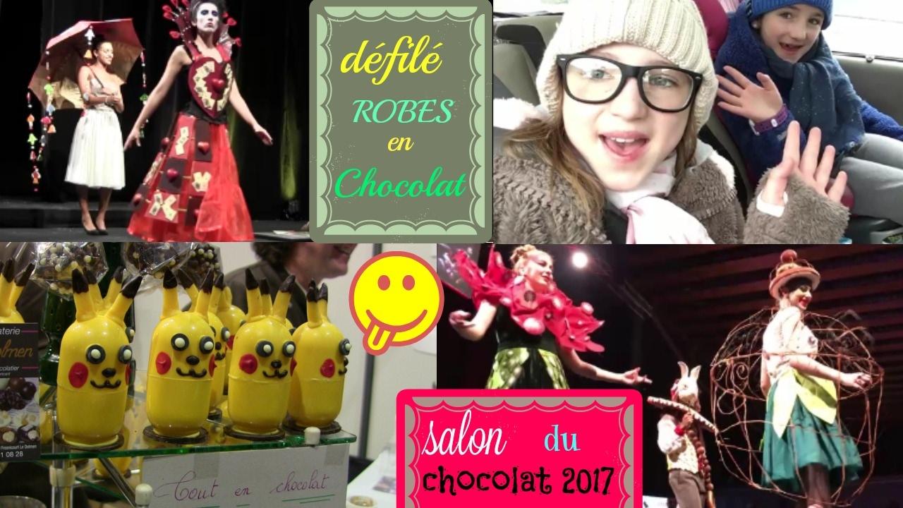 Miam ! Salon du chocolat, robes en chocolat - YouTube