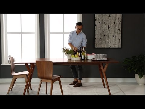 Choose MidCentury Dining Furniture West Elm YouTube - West elm cafe table