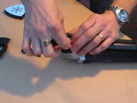 OSC400 300W Oscillating Multi Tool blade change