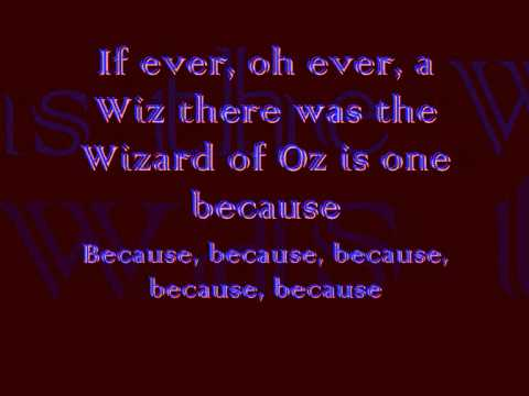 The Wizard Of Oz - Follow The Yellow Brick Road lyrics