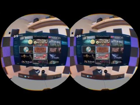 HTC Vive - Stereoscopic game-play test 3d (Audioshield, The Lab)