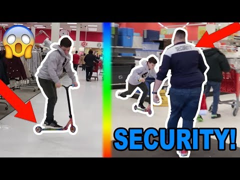 SCOOTER TRICKS IN WALMART! (KICKED OUT)
