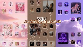 How to Customize IOS 14 Aesthetic Homescreen layout on Android | Tutorial BTS edition | Momshria screenshot 1
