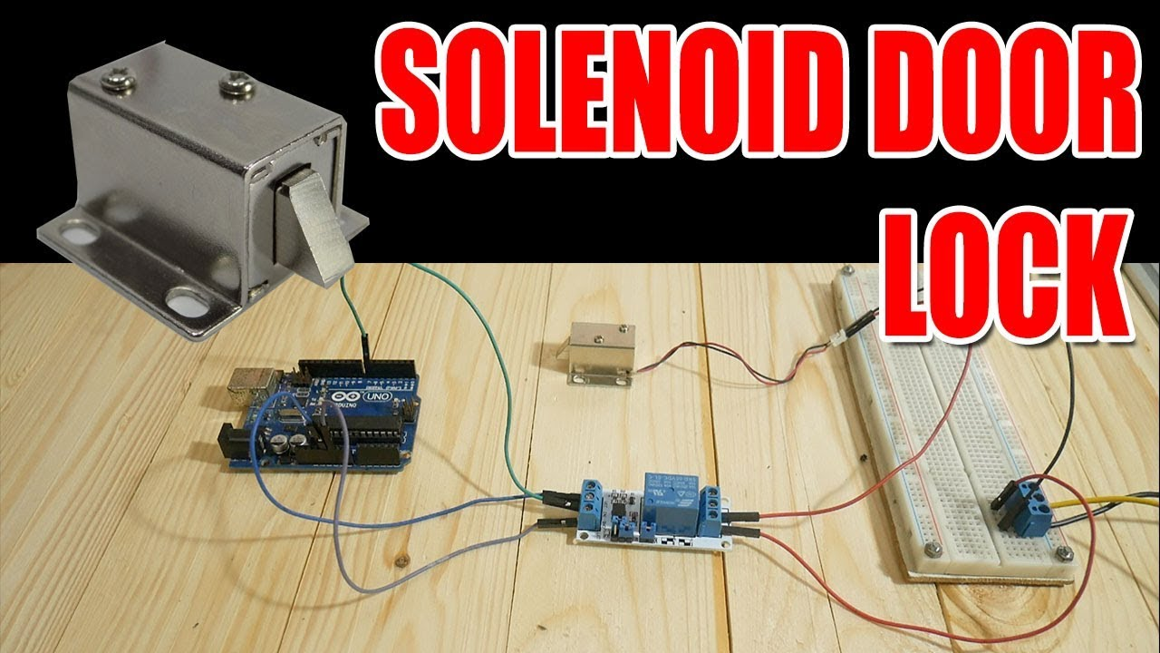 Relay Module Solenoid Door Lock How To Control Them With An Arduino Youtube