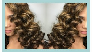 Natural Hair   {Semi-Wet Perm Rod Set}