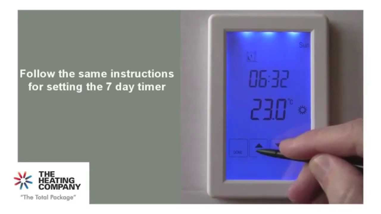 TRV Hotwire Thermostat Installation Guide YouTube - Heated floor timer
