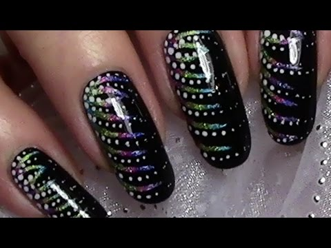 silvestern gel einfaches silvester nageldesign new years eve nail art design tutorial youtube. Black Bedroom Furniture Sets. Home Design Ideas