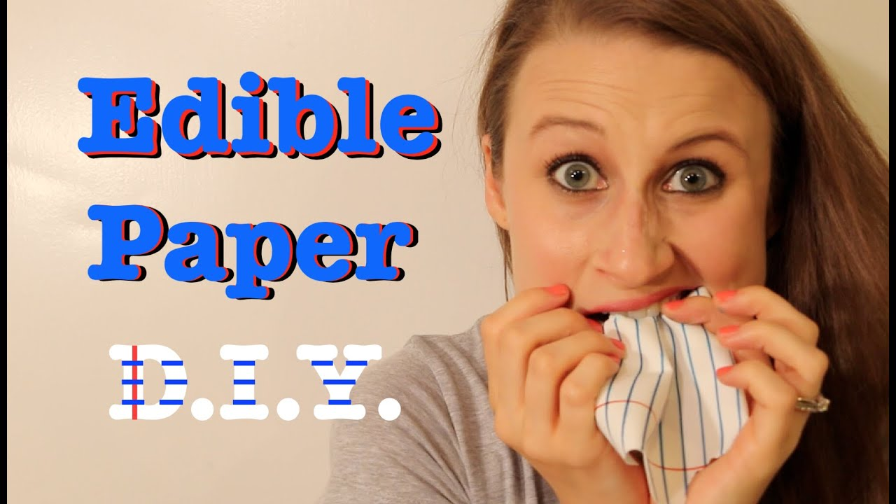 How To Make Edible Paper!