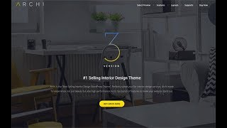 Установка Темы Archi - Interior Design WordPress Theme