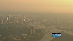 Smoke from distant wildfires makes Portland hazy