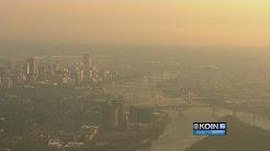 Smoke from distant wildfires makes Portland hazy