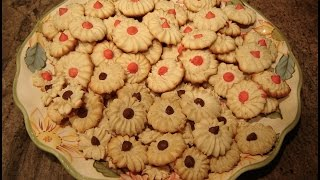 Italian Spritz Butter Cookies By Diane Love To Bake