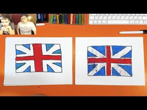 Как выглядит английский флаг фото