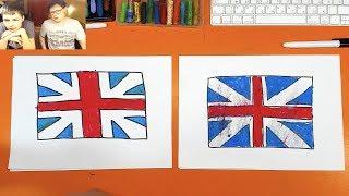 Рисуем ФЛАГ АНГЛИЯ  Великобритания / флаги мира