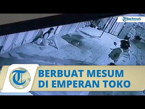 Viral Video Pemotor Mesum, Raba Tubuh Wanita Gelandangan Di Emperan Toko, Aksinya Terekam CCTV