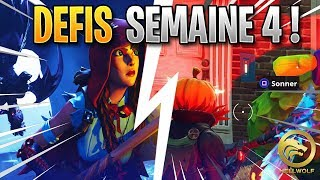 FORTNITE - COMPLETER RAPIDEMENT ALL THE DEFIS OF THE WEEK 4 - FREE BANNIERE!!