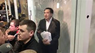 #Киев #Саакашвили в суде #Выбирают меру пресечения #Хроника