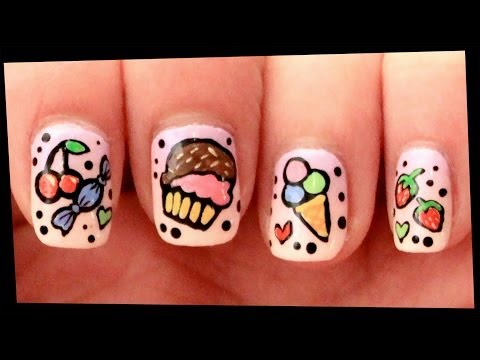 Cherries on Pastel Pink nail art from YouTube · Duration:  3 minutes 23 seconds