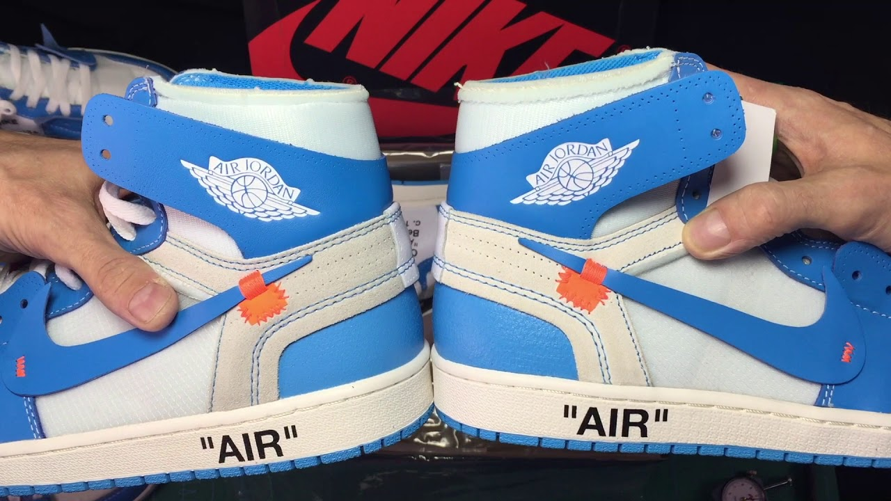 Be Aware of these 1:1 Off-White Air Jordan 1 UNC
