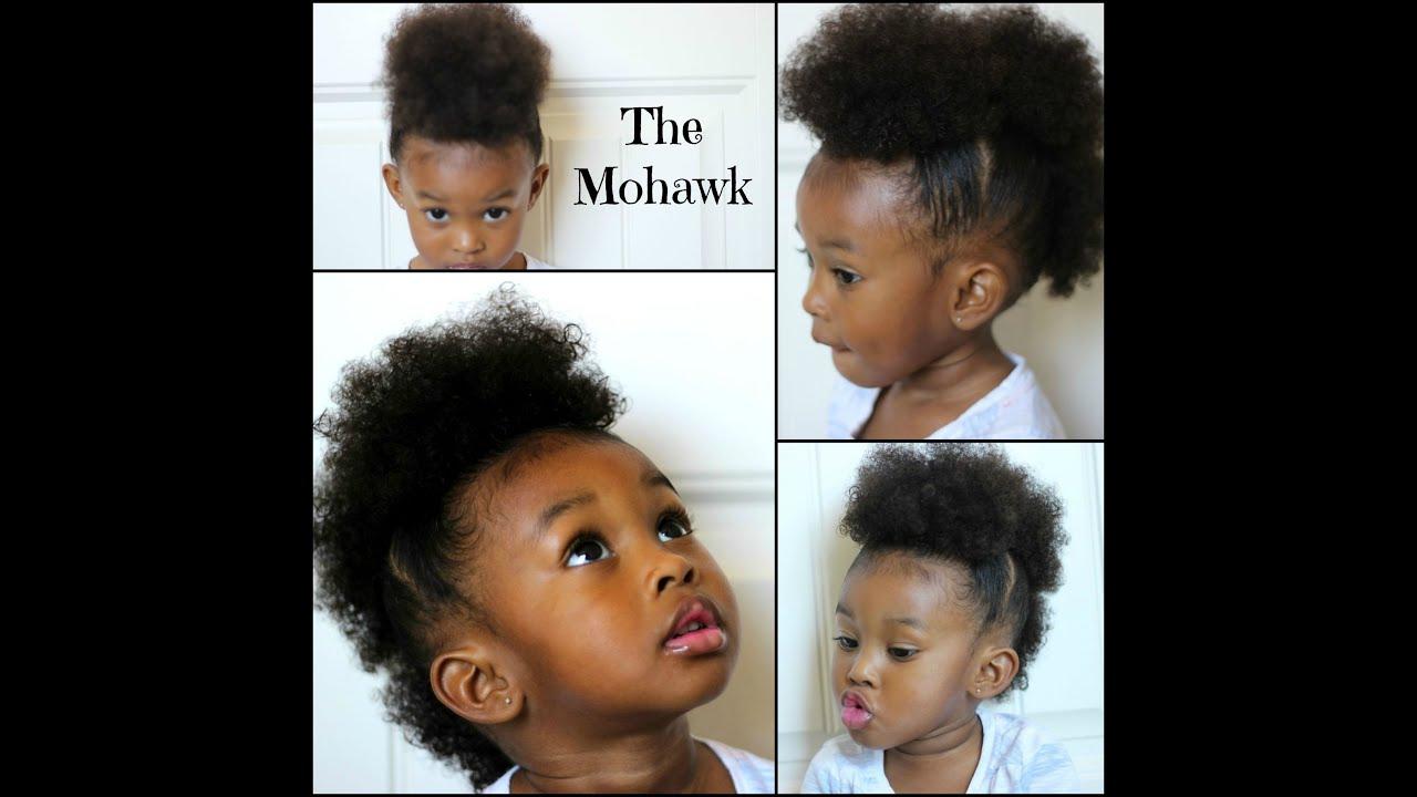 Fro Hawk Hair Tutorial For Little Girls Youtube