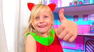 Alicia y casa de muñecas con sorpresas LOL