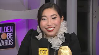 Awkwafina Was 'Genuinely Shocked' to Win | Golden Globes 2020