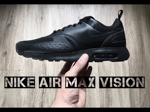 Nike Air Max Vision 'Black/ Black' | UNBOXING & ON FEET | fashion shoes | 2017 | HD