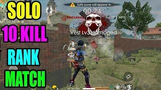 Vera level rank match || solo 10 kill || Free fire tricks and tips|| Run Gaming🎮