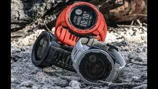 Смарт часы Garmin Instinct, Flame Red