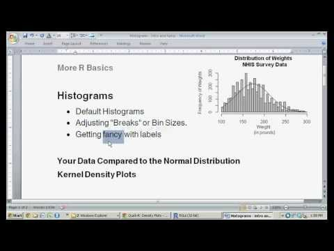Creating a Histogram in R Software (the hist() function)