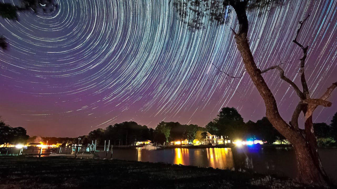 Sunset and Stars Time lapse Sequence V1