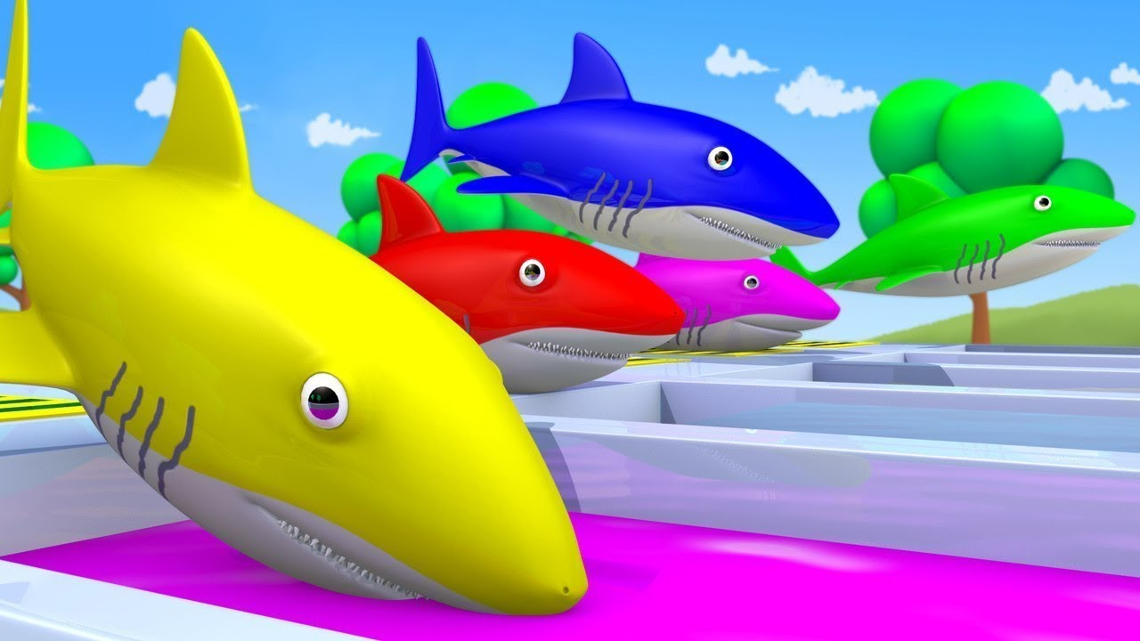 Baby Shark Nursery Rhymes To Learn Colors With Baby Shark Song Baby Shark Learn Colors Youtube
