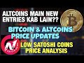Bitcoin and Altcoin latest price updates  Low satoshi ...