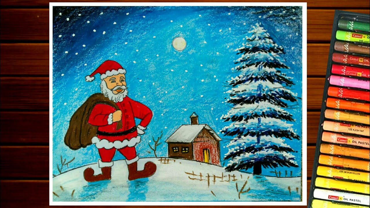Christmas Day Drawing Images.Christmas Day Drawing Santa Claus Drawing Easy
