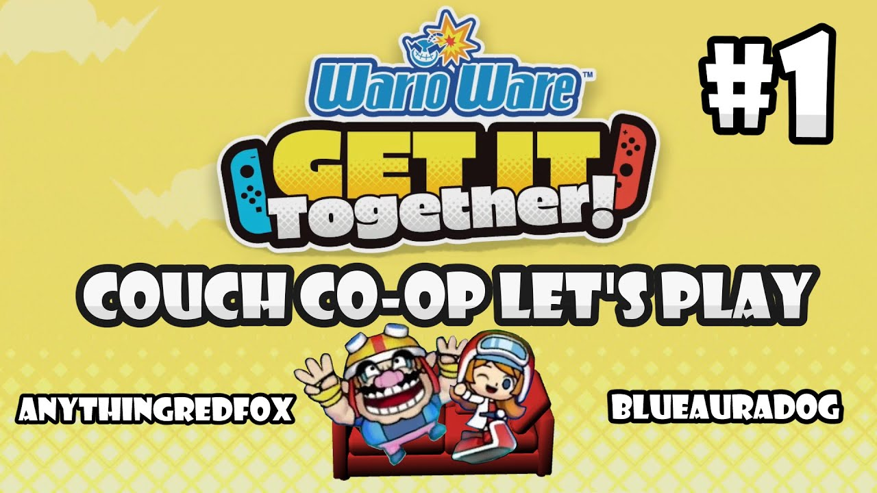 [Let's Play] [Couch Co-Op] WarioWare: Get It Together! - PART 1: Wario and Mona [Nintendo Switc