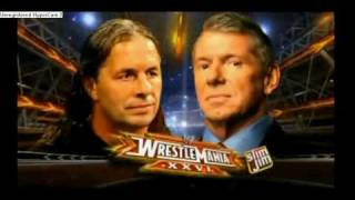 WWE Wrestlemania 26 official Match Card