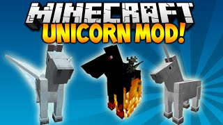 Minecraft 1.9 - UNICORN  PEGASUS MOD! CUSTOM ARMOR, WINGS, HORSES Minecraft Mod Showcase