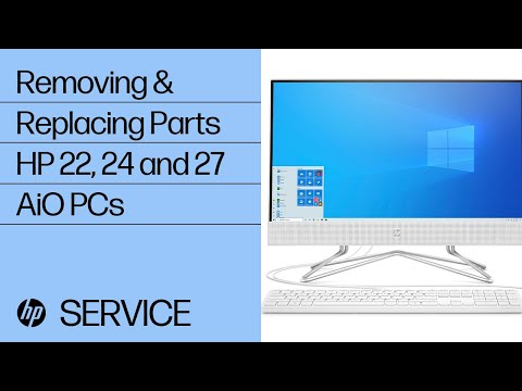 Removing & Replacing Parts | HP 22, 24 and 27 All-in-One PCs | HP Computer Service | HP
