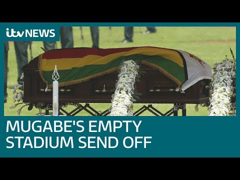 robert mugabe's funeral takes place in near-empty stadium | itv news