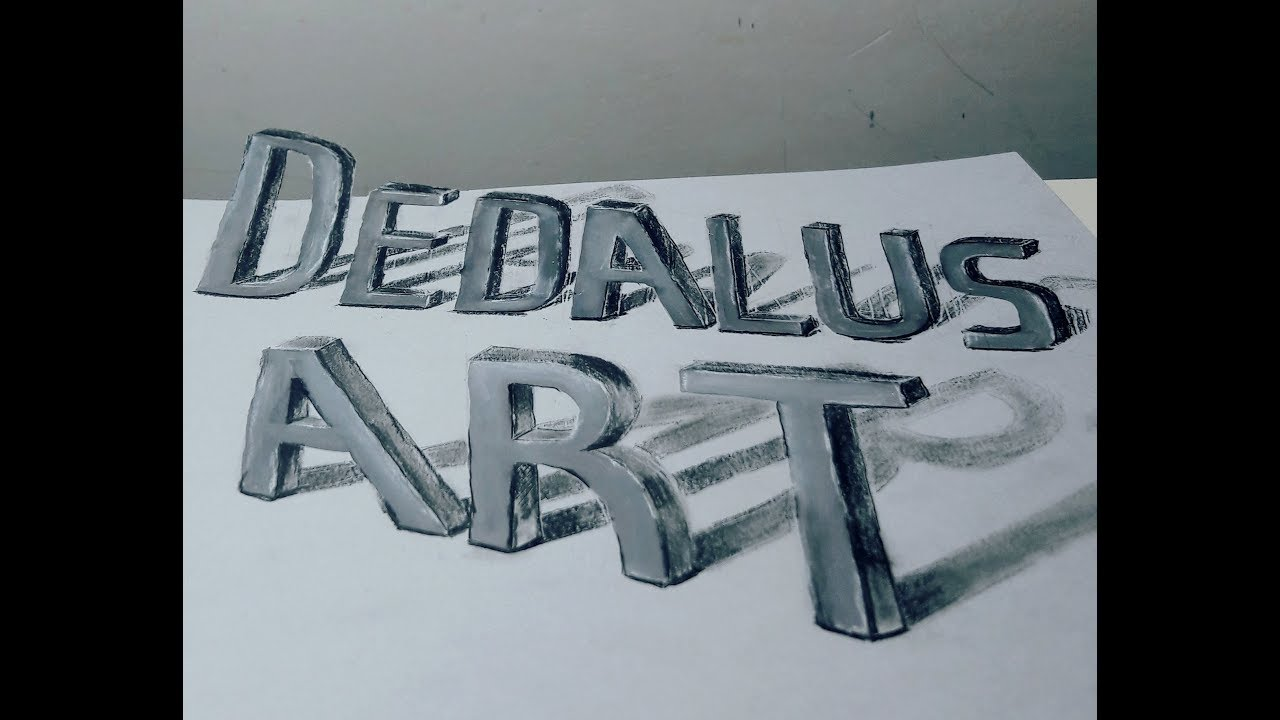 3d word art drawing optical illusion how to draw 3d art
