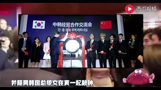 最甜蜜中韩夫妻于晓光秋瓷炫把恩爱秀到韩国总统面前!虐哭宋慧乔
