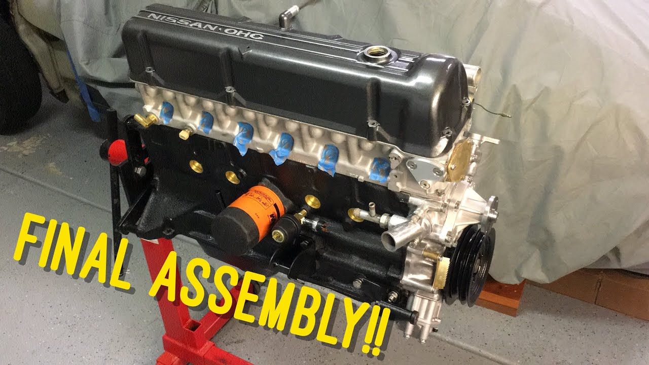 Final Assembly Of The Datsun L28 Engine