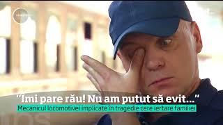 """Mărturia mecanicului de locomotivă care a ucis cinci suflete fără voia lui: """"Îmi pare rău!"""""""