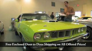 1971 HEMI Cuda for sale with test drive, driving sounds, and walk through video