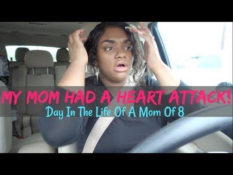 DAY IN THE LIFE OF A MOM OF 8 |MY MOM HAD A HEART ATTACK